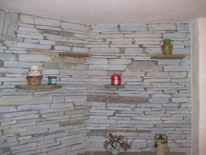 Parete Pietra. Parete Wall Cladding Dettaglio Pietra Di Vicenza Rullata E Incisa With Parete ...
